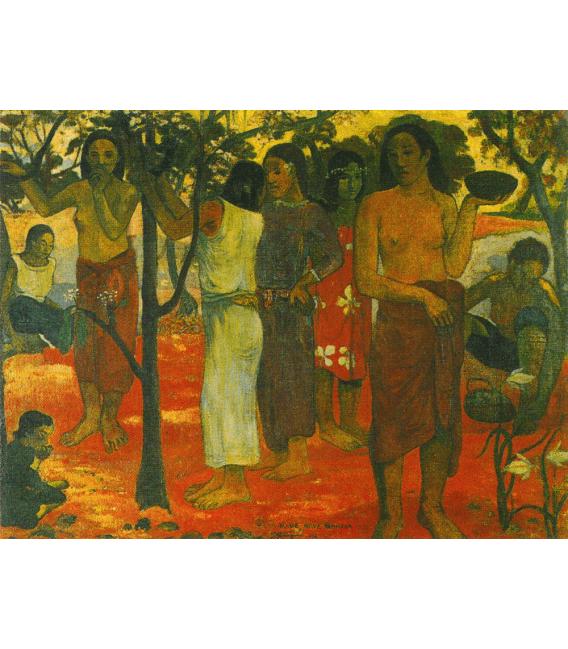 Stampa su tela: Paul Gauguin - Nave Nave Mahana (Giorni deliziosi)