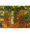 Paul Gauguin - Nave Nave Mahana (Giorni deliziosi). Stampa su tela