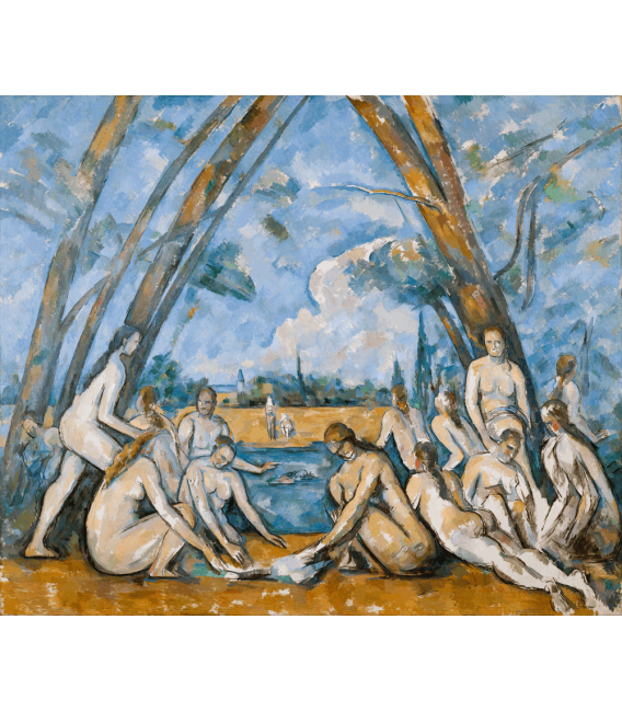 Printing on canvas: Paul Cézanne - The great bathers