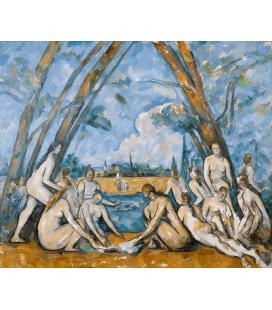 Stampa su tela: Paul Cézanne - Les grands baigneurs