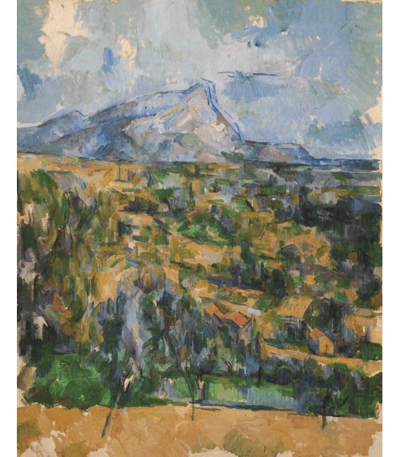 Stampa su tela: Paul Cézanne - Mont Sainte-Victoire 4