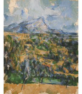 Printing on canvas: Paul Cézanne - Mont Sainte-Victoire 4