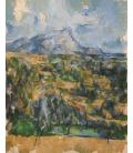 Paul Cézanne - Mont Sainte-Victoire 4. Stampa su tela