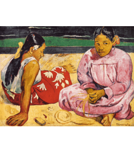 Stampa su tela: Paul Gauguin - Tahitian Women on the Beach