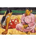 Paul Gauguin - Donne tahitiane sulla spiaggia. Stampa su tela
