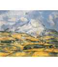 Paul Cézanne - Mont Sainte-Victoire 5. Stampa su tela