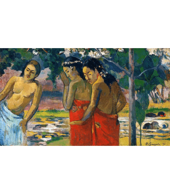 Stampa su tela: Paul Gauguin - Three Tahitian Women