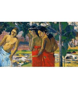 Paul Gauguin - Tre donne tahitiane. Stampa su tela