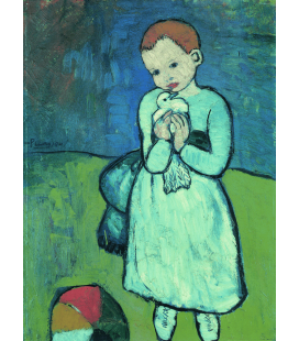 Printing on canvas: Pablo Picasso - Child with Dove