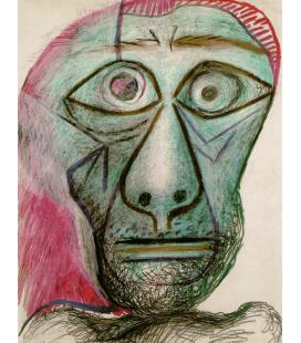 Stampa su tela: Picasso Pablo - Autoritratto