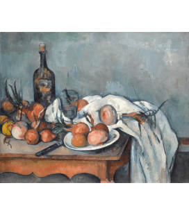 Printing on canvas: Paul Cézanne - Still life with onions