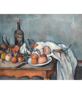 Stampa su tela: Paul Cézanne - Nature morte aux oignons