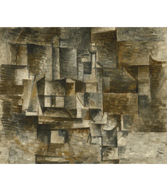 Stampa su tela: Picasso Pablo - Bottiglia e libri