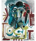 Picasso Pablo - Busto di donna 1965. Stampa su tela