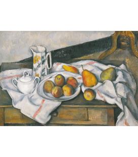 Paul Cézanne - Pesche e pere. Stampa su tela