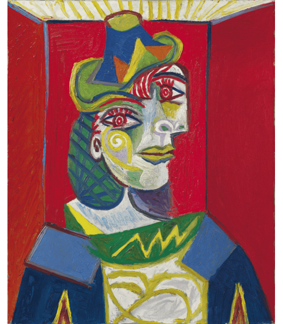 Printing on canvas: Pablo Picasso - Bust of a Woman (Woman with a Hairnet)