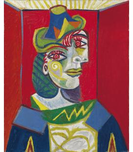Stampa su tela: Picasso Pablo - Buste de femme (Femme à la résille)