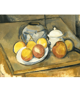 Printing on canvas: Paul Cezanne - Vase lined with straw