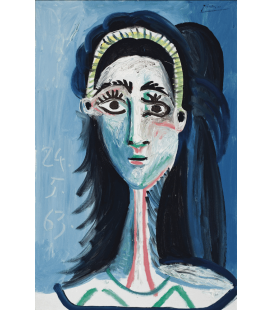Stampa su tela: Picasso Pablo - Camera blu (Tete de femme)