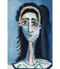 Printing on canvas: Pablo Picasso - Blue Room (Tete de femme)