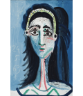 Picasso Pablo - Camera blu (Testa di donna). Stampa su tela