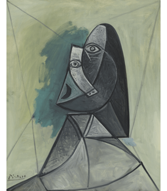 Printing on canvas: Pablo Picasso - Bust of a Woman