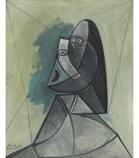 Stampa su tela: Picasso Pablo - Busto di donna