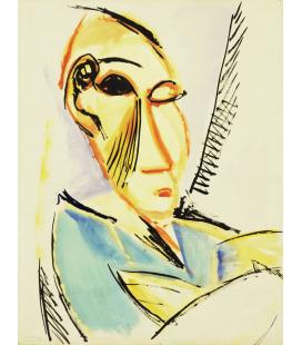Stampa su tela: Picasso Pablo - Capo del Medical Student