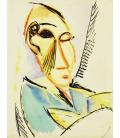 Picasso Pablo - Capo del Medical Student. Stampa su tela