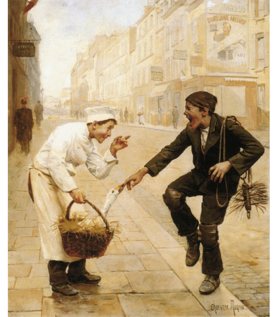 Printing on canvas: Paul Charles Chocarne-Moreau - The Unexpected Surprise
