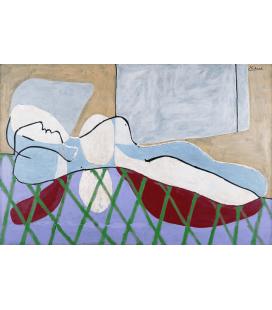 Stampa su tela: Picasso Pablo - Dona Sdraiata