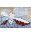 Picasso Pablo - Dona Sdraiata. Stampa su tela