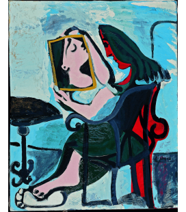 Printing on canvas: Pablo Picasso - Woman in the mirror