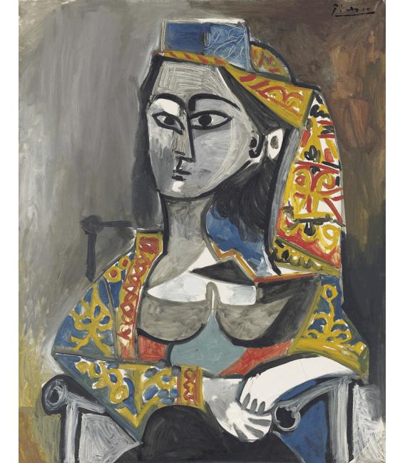 Stampa su tela: Picasso Pablo - Donna in costume turco