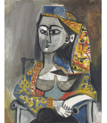 Printing on canvas: Pablo Picasso - Woman in turkish costume