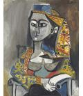 Picasso Pablo - Donna in costume turco. Stampa su tela
