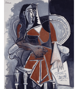 Stampa su tela: Picasso Pablo - Donna seduta