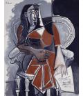 Picasso Pablo - Donna seduta. Stampa su tela