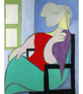 Stampa su tela: Picasso Pablo - Donna seduta vicino a una finestra