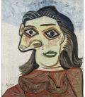 Picasso Pablo - Dora Maar. Stampa su tela