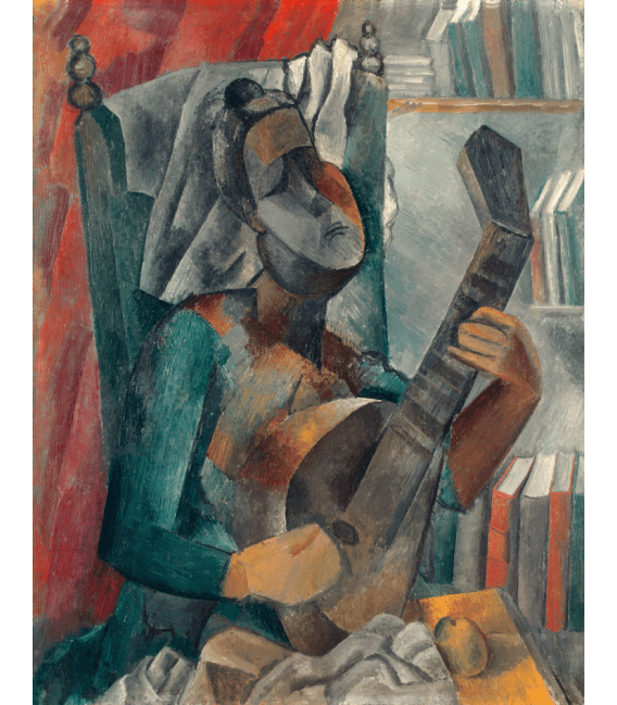 Printing on canvas: Pablo Picasso - Woman with mandolin