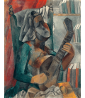 Pablo Picasso - Woman with mandolin. Printing on canvas