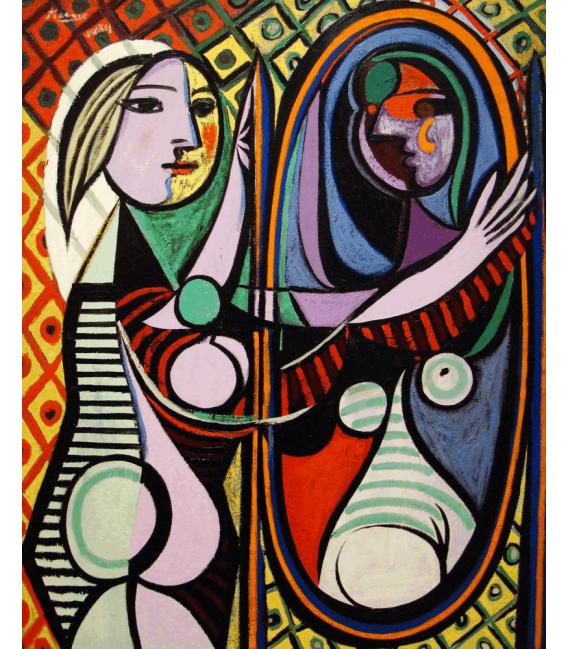 Stampa su tela: Picasso Pablo - Girl Before A Mirror