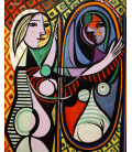 Printing on canvas: Pablo Picasso - Girl Before A Mirror