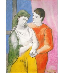 Pablo Picasso - The Lovers. Printing on canvas