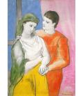 Stampa su tela: Picasso Pablo - Gli Amantif