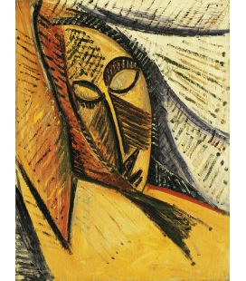 Picasso Pablo - Testa di una donna addormentata (Studio del nudo con Drapery). Stampa su tela