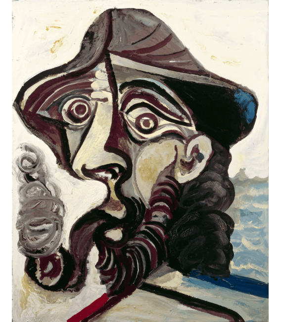 Printing on canvas: Pablo Picasso - The Smoker