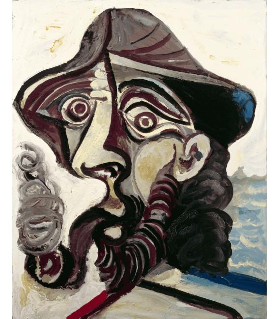 Stampa su tela: Picasso Pablo - Il fumatore