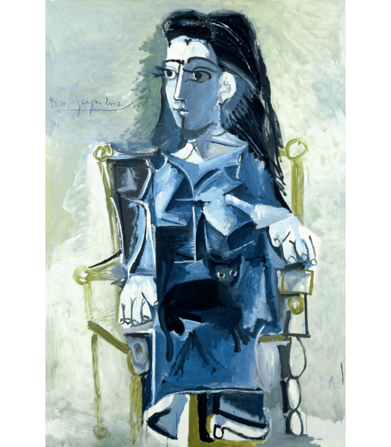 Printing on canvas: Pablo Picasso - Jacqueline sitting in a wheelchair